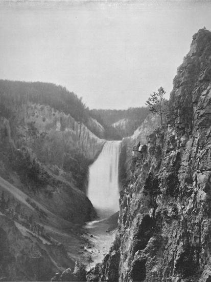 'The Great Falls of the Yellowstone', 19th century-Unknown-Photographic Print