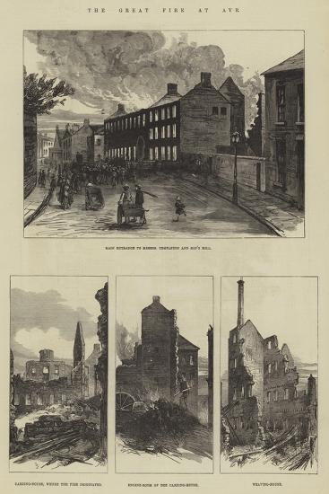 The Great Fire at Ayr--Giclee Print