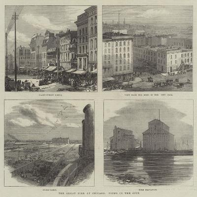 The Great Fire at Chicago, Views in the City--Giclee Print