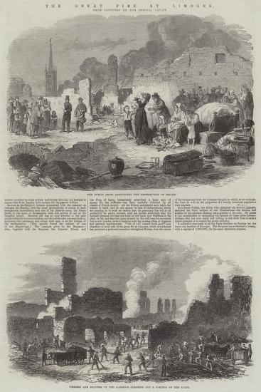 The Great Fire at Limoges--Giclee Print