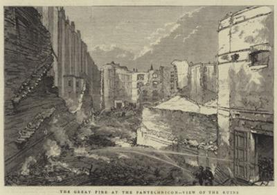 The Great Fire at Pantechnicon, View of the Ruins