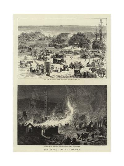 The Great Fire at Salonica--Giclee Print