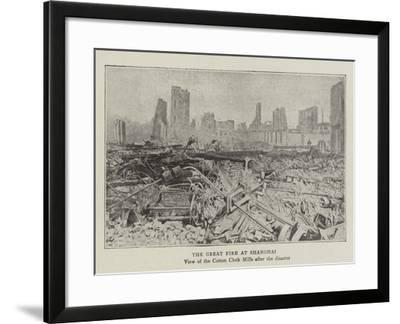 The Great Fire at Shanghai--Framed Giclee Print