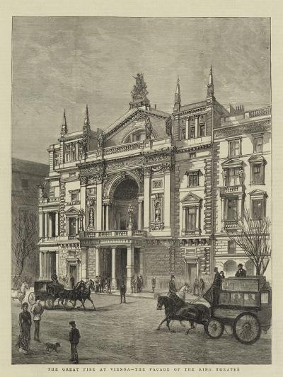 The Great Fire at Vienna, the Facade of the Ring Theatre--Giclee Print