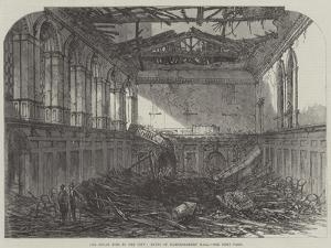 The Great Fire in the City, Ruins of Haberdashers' Hall