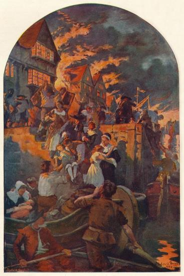 The Great Fire of London, 1666 (1905)-Unknown-Giclee Print