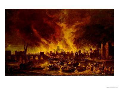 The Great Fire of London in 1666-Lieve Verschuier-Giclee Print