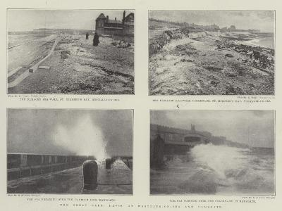 The Great Gale, Havoc at Westgate-On-Sea and Ramsgate--Giclee Print