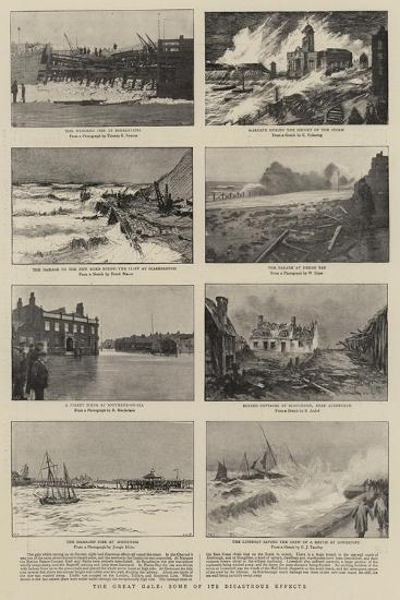 The Great Gale, Some of its Disastrous Effects--Giclee Print