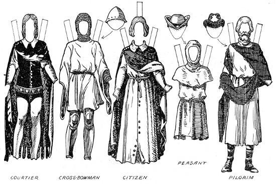 'The Great Gallery of British Costume: Dress Worn In Edward The Third's Reign', c1934-Unknown-Giclee Print