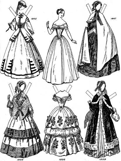 'The Great Gallery of British Costume: Some Women's Fashions from 1843 to 1893', c1934-Unknown-Giclee Print