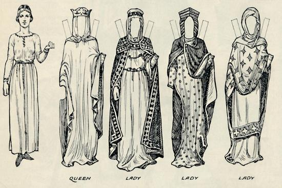 'The Great Gallery of British Costume: Varied Dresses Worn in Norman Times', c1934-Unknown-Giclee Print