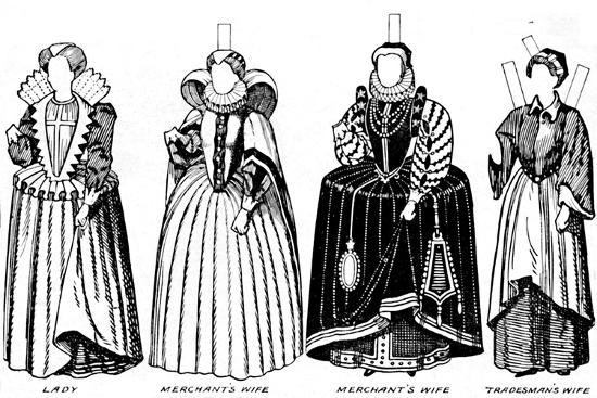 'The Great Gallery of Costume: Varied Dresses Worn in the Days of Elizabeth', c1934-Unknown-Giclee Print