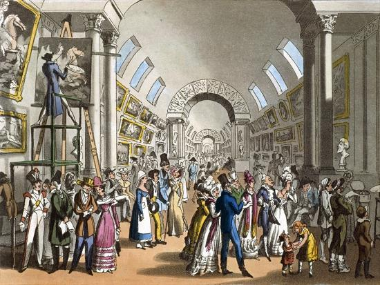 The Great Gallery of the Louvre in Paris, France 19th Century--Giclee Print