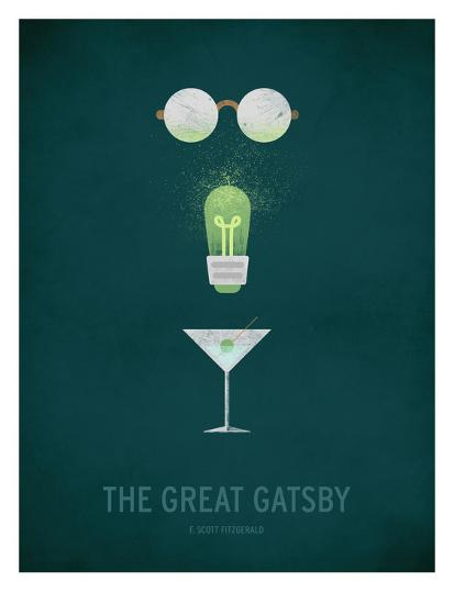 The Great Gatsby Minimal-Christian Jackson-Art Print