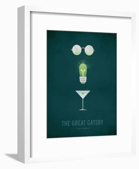 The Great Gatsby Minimal-Christian Jackson-Framed Art Print
