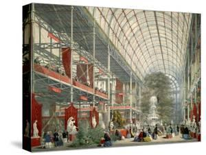 The Great Industrial Exhibition of 1851, Showing Interior of Crystal Palace