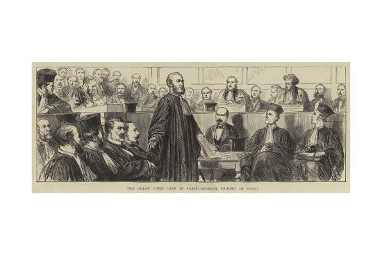 The Great Libel Case in Paris, General Trochu in Court--Giclee Print