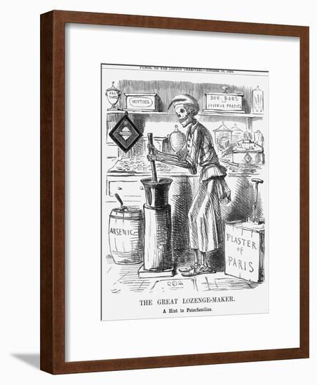 The Great Lozenge-Maker, a Hint to Paterfamilias, 1858-John Leech-Framed Giclee Print