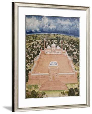 The Great Mosque, Delhi, Company School, Mid 19th Century--Framed Giclee Print