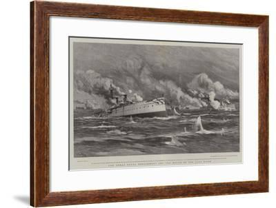 The Great Naval Engagement Off the Mouth of the Yalu River-Joseph Nash-Framed Giclee Print