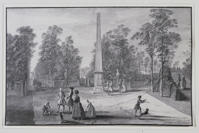 The Great Obelisk-Jacques Rigaud-Giclee Print