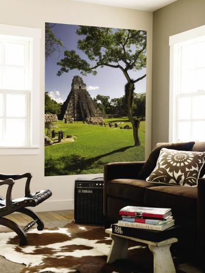 The Great Plaza at Tikal Archeological Site.-Diego Lezama-Wall Mural