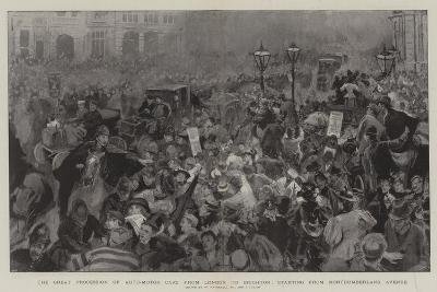 The Great Procession of Auto-Motor Cars from London to Brighton-William Hatherell-Giclee Print