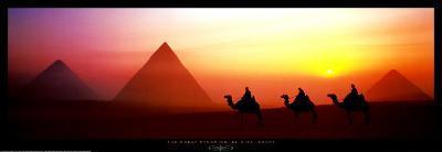 The Great Pyramids, El Giza, Egypt-Shashin Koubou-Art Print