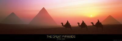 The Great Pyramids of Giza, Egypt-Shashin Koubou-Art Print