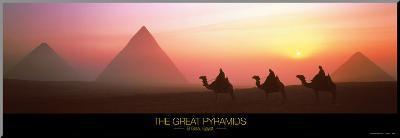 The Great Pyramids of Giza, Egypt-Shashin Koubou-Mounted Print
