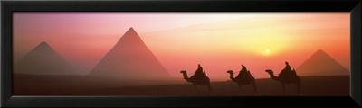 The Great Pyramids of Giza, Egypt-Shashin Koubou-Framed Art Print