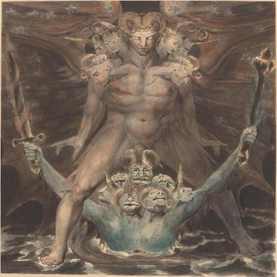 The Great Red Dragon and the Beast from the Sea, c.1805-William Blake-Giclee Print