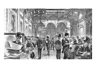 The Great Room of Lloyd's of London, 1890--Giclee Print