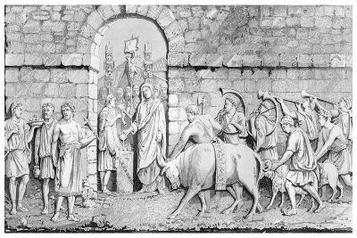 The Great Sacrifice of the Romans on Undertaking a War-James Gardner-Giclee Print