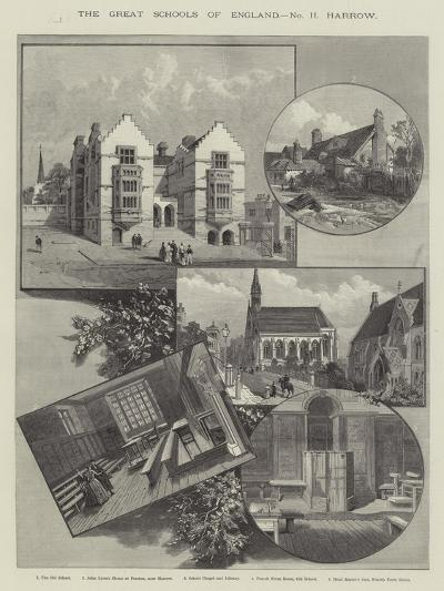 The Great Schools of England, Harrow--Giclee Print