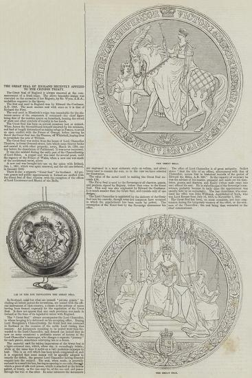 The Great Seal of England Recently Affixed to the Chinese Treaty--Giclee Print