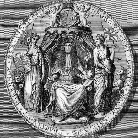 The Great Seal of King George I- Vandroit-Giclee Print