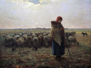 The Great Shepherdess by Jean-Francois Millet