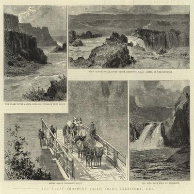 The Great Shoshone Falls, Idaho Territory, Usa--Giclee Print