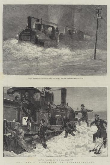 The Great Snow-Storm in Northumberland-William Heysham Overend-Giclee Print