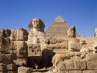 The Great Sphinx and the Chephren Pyramid, Giza, Cairo, Egypt, Africa-Nigel Francis-Photographic Print