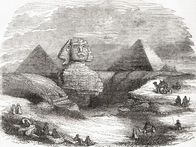 The Great Sphinx of Giza--Giclee Print