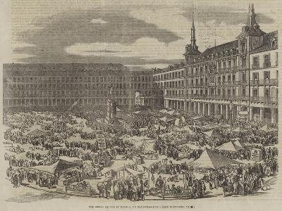 The Great Square in Madrid, on Christmas-Eve--Giclee Print