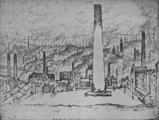 'The Great Stack, Bradford', 1909-Joseph Pennell-Giclee Print
