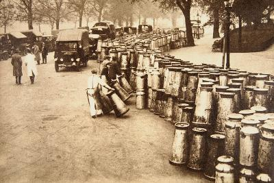 The Great Strike: Milk Churns Being Delivered to Hyde Park, May 8th 1926--Photographic Print