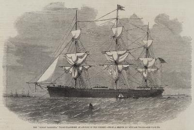 The Great Tasmania Troop-Transport an Anchor in the Mersey--Giclee Print