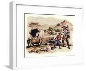 The Great Trek of 1835-1837-Pat Nicolle-Framed Giclee Print