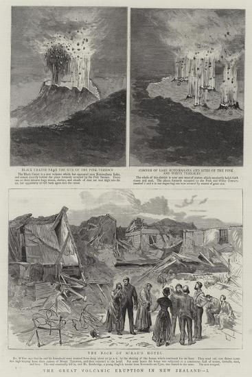 The Great Volcanic Eruption in New Zealand, I--Giclee Print
