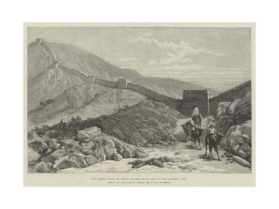 The Great Wall of China at the Entrance to the Nankow Pass-Julius Mandes Price-Giclee Print
